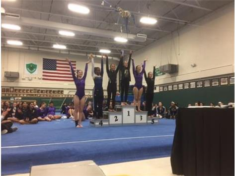 All around - Kelly Brinkman, 3rd place                     Rachel Jeske, 6th place