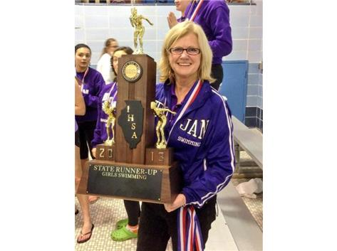 Head Coach Judy Busse's first trophy!!