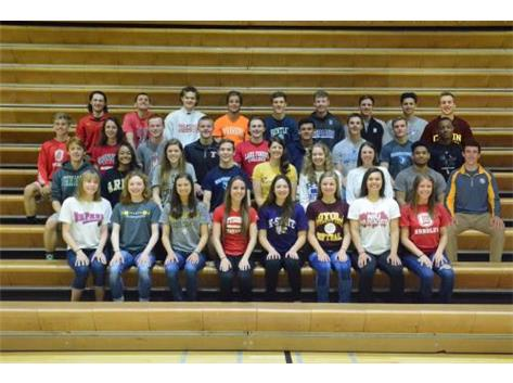 Class of 2017 Athletes continuing their Athletic Career in College
