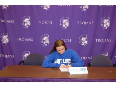 Congrats to Ellie Benge as she continues her swimming career at St. Louis University! We are proud of you!