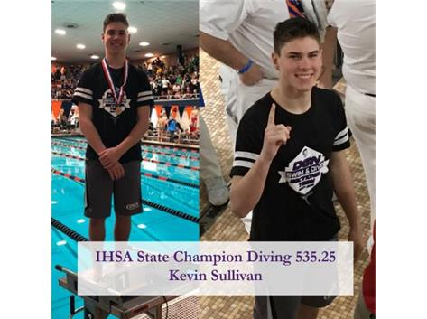 Kevin Sullivan - IHSA State Diving Champion