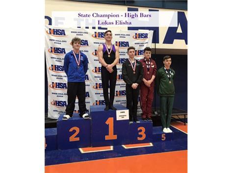 High Bar State Champion Lukas Elisha
