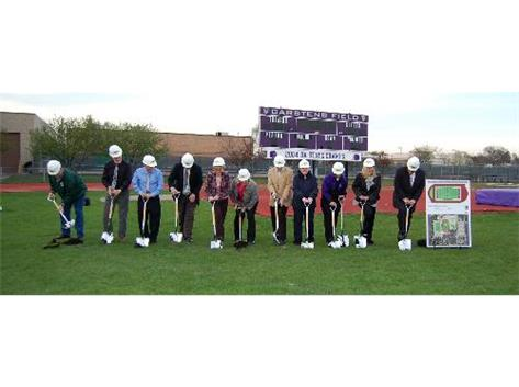 Ground Breaking on new Turf Field, April 29, 2011
