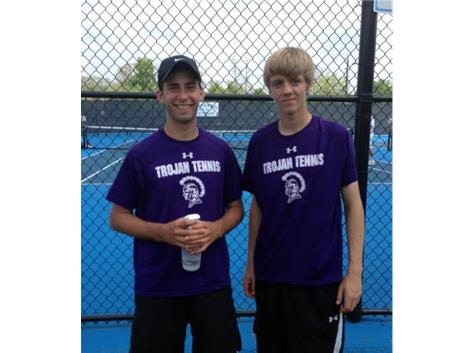 Congratulations to the Tennis Doubles team of Tristan Burnham and Chandler Downs on qualifying for the IHSA State tournament.
