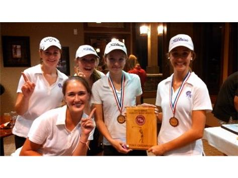 North Varsity Girls Golf Champs!  Winners of the 13 team Plainfield North Invite.