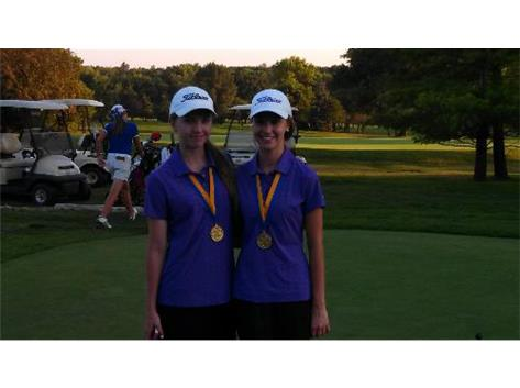 Abbey Radigan & Courtney Katz  Medalists at the Joliet Invite