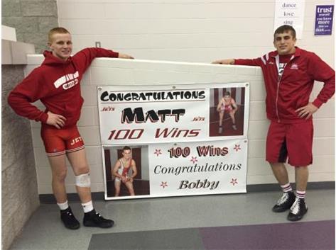 Matt McFarland and Bobby Stewart Celebrate their 100th Wins