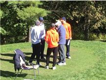 Matt Horner receiving instructions prior to the beginning of play with his group.