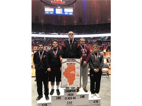 Luke Luffman, Class 2A State Champion at 220 lbs