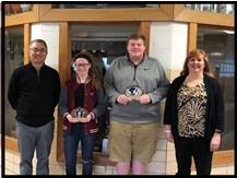 Congratulations to Marissa Horn (Basketball) and Kyle Beavers (Bowling) for being chosen January Athletes of the Month!