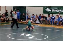 Jeremiah Canada taking down an opponent.