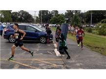 Darryl Norwood rounding the turn at the IC Invite