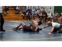Marcos Quevedo attempting the pin.