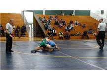 Aaron Rieger handling his opponent