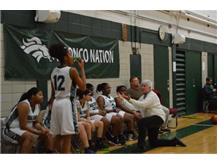 JV basketball team learning from Coach Korff.