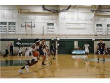 Senior Ryan Jones attacking the defense.