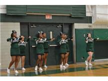 Cheerleaders cheering on our Broncos!