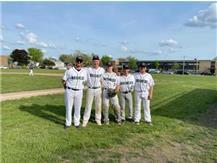 Senior Day - Coach Barnhill, Bennett Eichert, Luke Staerkel, Andrew Clark, Jacob Calleros