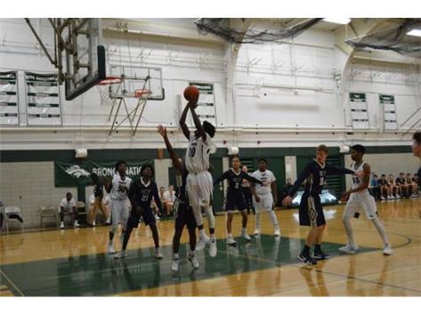 Sophomore KJ Evans with the jumper