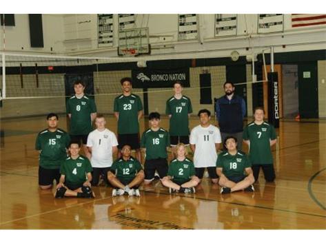 2021 Bronco Boys Volleyball Team