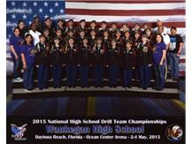 Team finished 6th in Unarmed Inspection and 7th in Unarmed Exhibition Drill out of over 4o school around the Country.