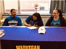 Andrea Miller's Signing Day to Marian University