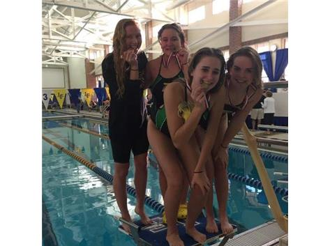 Bulldog girls earn 6th place at the NSC Conference Swim Championship
