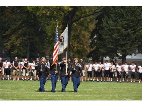 JROTC Present our nations colors