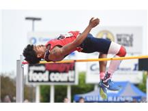 Camron Donatlan clears 7'0 to Win State High Jump!