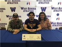 Alex Diaz signs with UW-Stevens Point to play baseball!