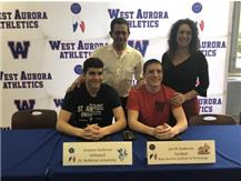 Jeramie (St. Ambrose Volleyball) and Jerritt Guitierrez (Rose-Hulman Football) sign to continue their athletic careers in college!