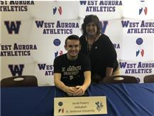 Jacob Powers signs to play volleyball at St. Ambrose!