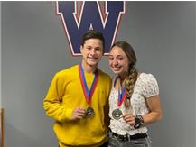 Athletes of the Year, Zach Thompson and Tori Spagnola.