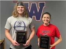 Richard Dorsey Sportsmanship Award winners, Caleb Dietlin and Emma Conley