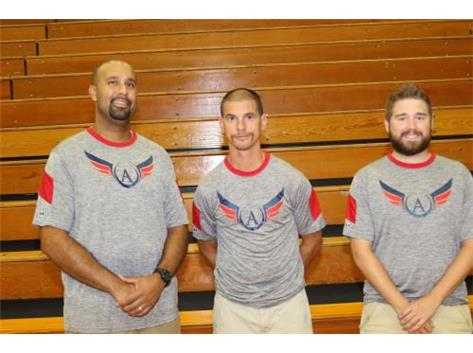 Coaches Cortney Lamb, Tony Rizzo, and Nolan McCue