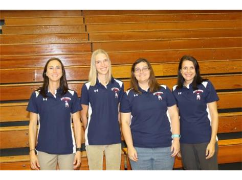 Coaches Andrea DiDonato, Rachel Hopper, Katie Harland and Marie Stancati