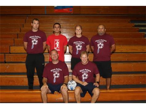 Coaches Matt Wunderlich, Jorge Espana, Kayla Radloff, Auturo Juarez, Joe Sustersic and Kevin Briars