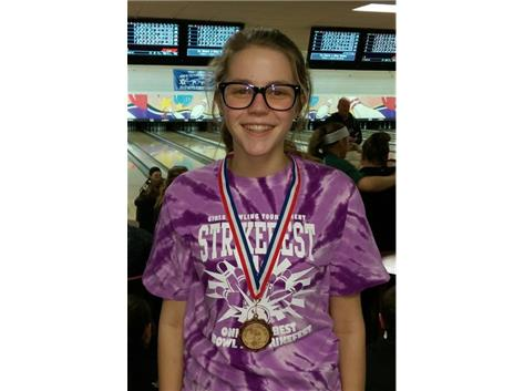 Paytynn Kuhns earned 12th place at Strikefest with a 1239 series, including a high game of 279.