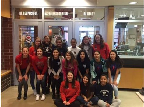 Girls Soccer Volunteering at Fearn Elementary