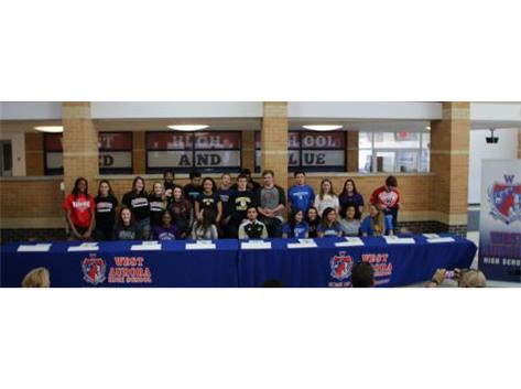 25 spring athletes sign to play in college!