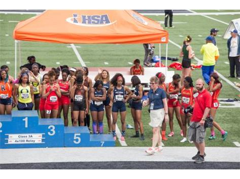 The 4x100m Relay took 7th place at the IHSA Girls State Track Meet. The relay consisted of Taty Skokan (Sr.), Rajiah Andrews (Sr.), Nia Wood (Fr.), and Tamia Rayford (Sr.).