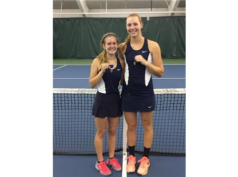 Maria Goheen and Liz Stefancic win Sectional Doubles Title!
