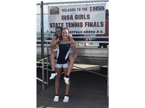 Stefancic and Goheen win state doubles title!