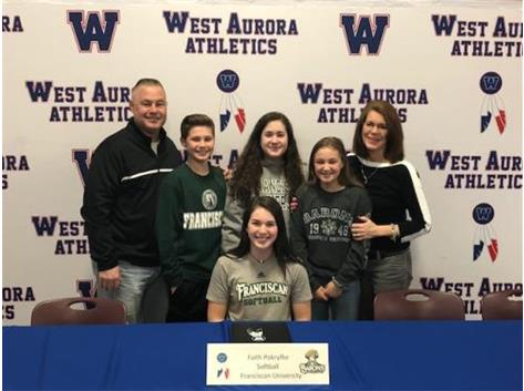 Faith Pokryfke signs with Franciscan University to play Softball!