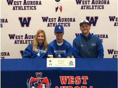 Jacob Gray signs with Aurora University to play Baseball!