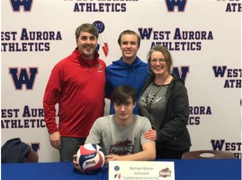 Michael Walker signs to play Volleyball at Cumberland University!