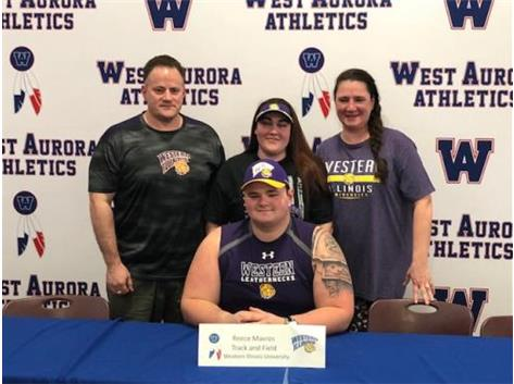 Reece Mavros signs with Western Illinois for Track & Field!