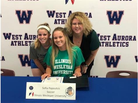 Sofia Papoutsis signs to play Soccer at Illinois Wesleyan!