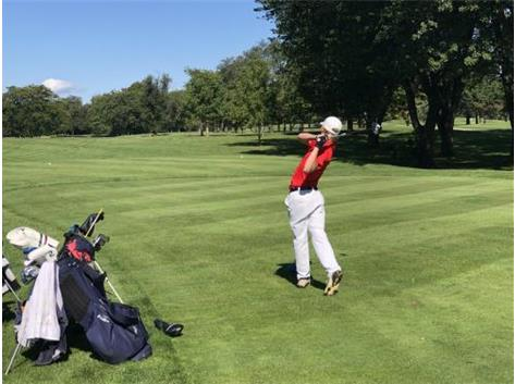 Ryan Vanderway tees off at UEC Tournament