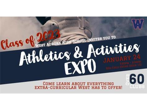 Athletics and Activities EXPO - January, 24th, 5pm!